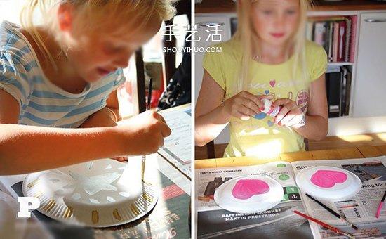 自製簡易手鼓的方法 怎麼做紙盤手鼓的教程
