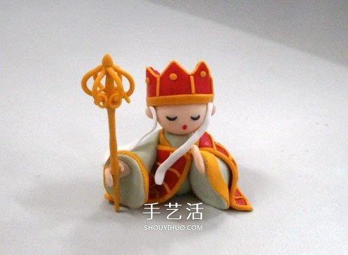 軟陶唐僧製作教程及圖解 非常可愛精緻的人偶