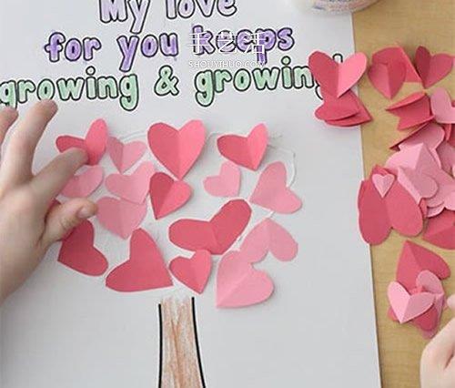 母親節愛心樹賀卡做法 DIY簡單好看母親節卡片