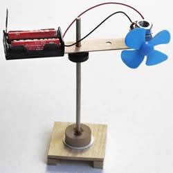 有趣科技小制作 磁悬浮旋转风扇的制作方法