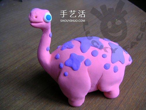 恐龙也能这么可爱!卡通橡皮泥恐龙手工制作 -  www.shouyihuo.com