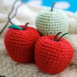可爱手工苹果小装饰!钩针编织苹果的方法图解