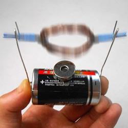 科技小发明小制作 利用磁场作用力让铜圈转动