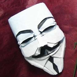 神秘自由斗士!V字仇杀队面具的折纸方法图解