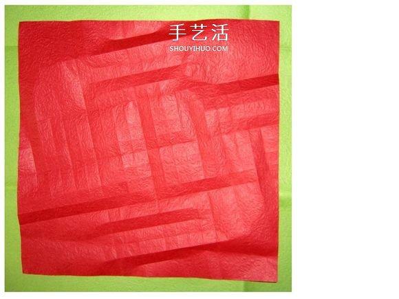 怎么折酒杯玫瑰的过程 详细酒杯玫瑰折纸实拍 -  www.shouyihuo.com