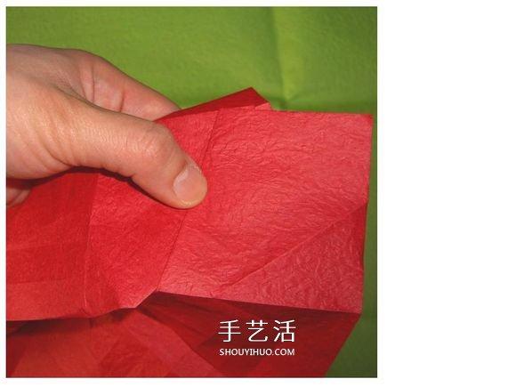 怎麼折酒杯玫瑰的過程 詳細酒杯玫瑰摺紙實拍