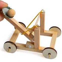 儿童投石车怎么做图解 简单投石战车手工制作