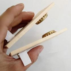 自制响板乐器的方法 简易儿童响板玩具制作