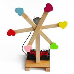 科技小制作电动风扇做法 电动风车制作步骤图