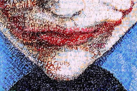 上百小時的名言堆疊 向名人致敬的創意文字畫