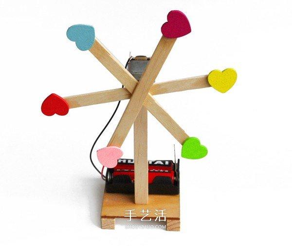 科技小制作电动风扇做法 电动风车制作步骤图 -  www.shouyihuo.com