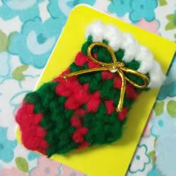 孩子过圣诞不可少!钩针编织漂亮圣诞袜的方法