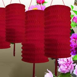 用纸怎么折花灯图解 圆柱形纸宫灯制作方法