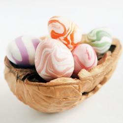 超可爱的粘土饰品 超轻粘土DIY制作复活节彩蛋