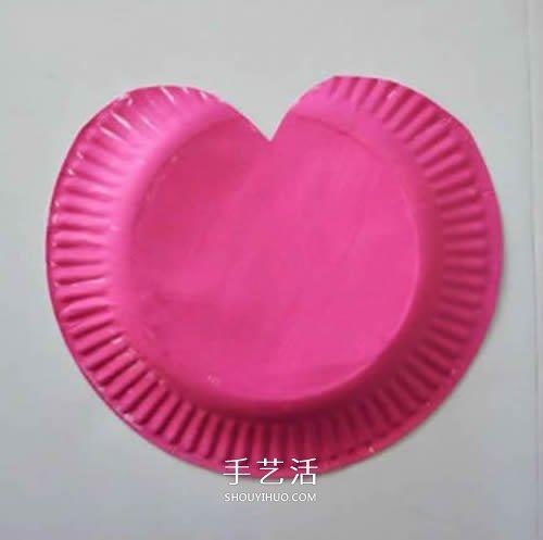 可愛的愛心包包!幼兒手工紙盤做包包的方法