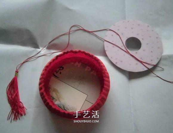 用紙怎麼折花燈圖解 圓柱形紙宮燈製作方法