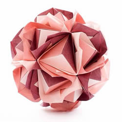 怎麽折�花球的�D解教程 折一���炱�懋��b�