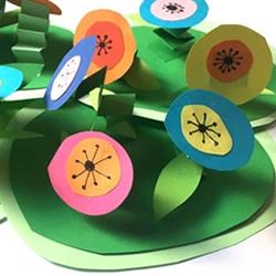 简单又有创意!卡纸制作立体母亲节花朵卡片