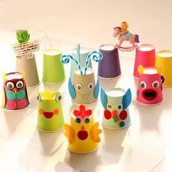 创意纸杯手工制作图片 用纸杯做可爱小动物