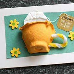 鸡蛋托做茶壶!可爱又创意母亲节立体贺卡DIY