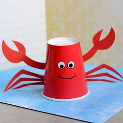 怎么简单做小螃蟹教程 幼儿手工制作纸杯螃蟹