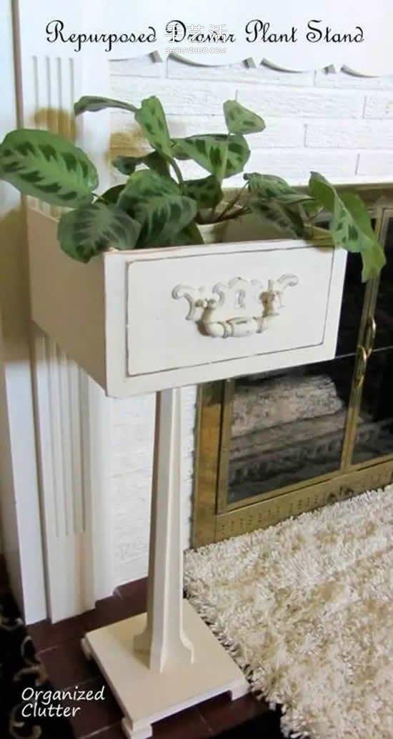 抽屉式收纳柜_创意旧抽屉改造DIY 简单做成好看又实用家具(2)_手艺活网