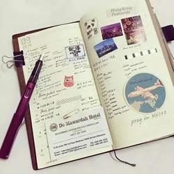 超多手账素材图片 跟着画做出漂亮手账本!