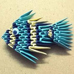 三角插小鱼折法图解 简单热带小鱼用三角插做