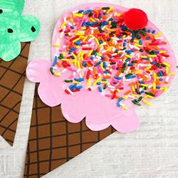 用纸盘制作冰激凌的方法 幼儿园手工做冰激凌