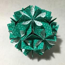 怎麽折五瓣花花球的方法 五瓣花球的折��D解
