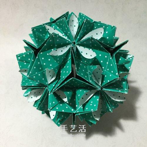 折纸五瓣花步骤图解_怎么折五瓣花花球的方法 五瓣花球的折纸图解_手艺活网
