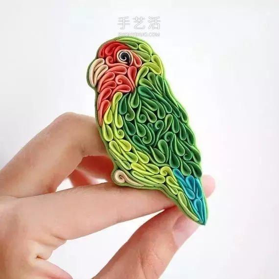 宛如精美衍纸!俄罗斯姑娘的迷人软陶动物作品 -  www.shouyihuo.com