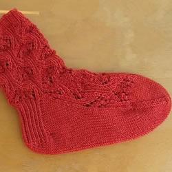 带花纹宝宝袜子的织法 棒针编织婴儿袜图解