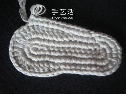 寶寶保暖毛線鞋的編法 手工編織嬰兒鞋圖解