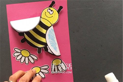 母親節卡通賀卡製作 可愛小蜜蜂母親節卡片DIY