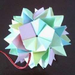 绣球怎么折步骤图解 手工折立体绣球的方法