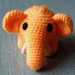 毛线小象的编织方法 钩针编织大象玩具图解