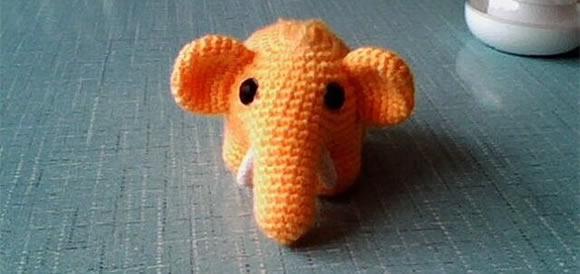 毛線小象的編織方法 鉤針編織大象玩具圖解