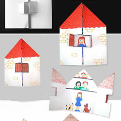 幼儿园贺卡手工制作 可爱小房子卡片的做法