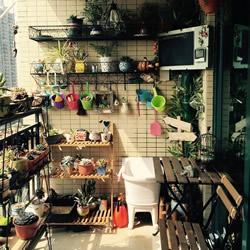 小阳台养花设计图片 既漂亮还节省空间!
