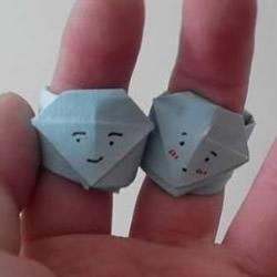 爱心钻石戒指的折法步骤图 还能折可爱情侣款