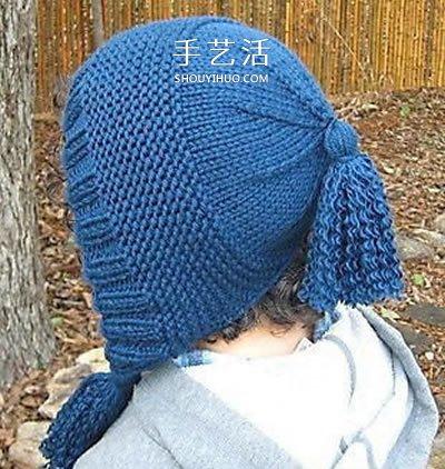 兩款螺旋帽子的編織方法 鉤針編織螺旋帽圖解