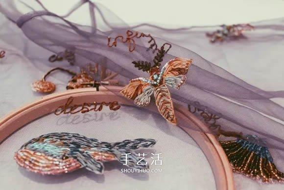 在薄纱上刺绣 让衣服仿佛活过来了一样精彩! -  www.shouyihuo.com