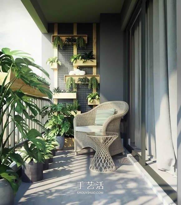 小阳台养花设计图片 既漂亮还节省空间! -  www.shouyihuo.com