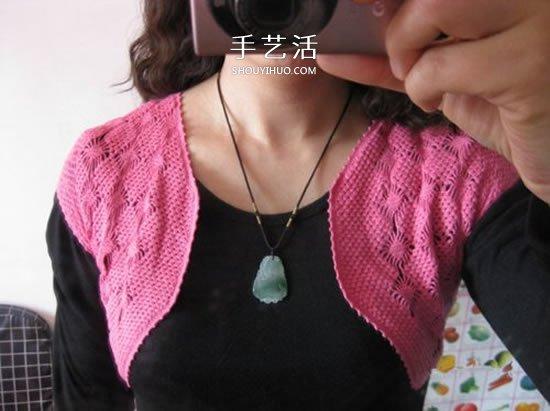 毛線坎肩小外套編織方法 鉤針編織百搭小坎肩
