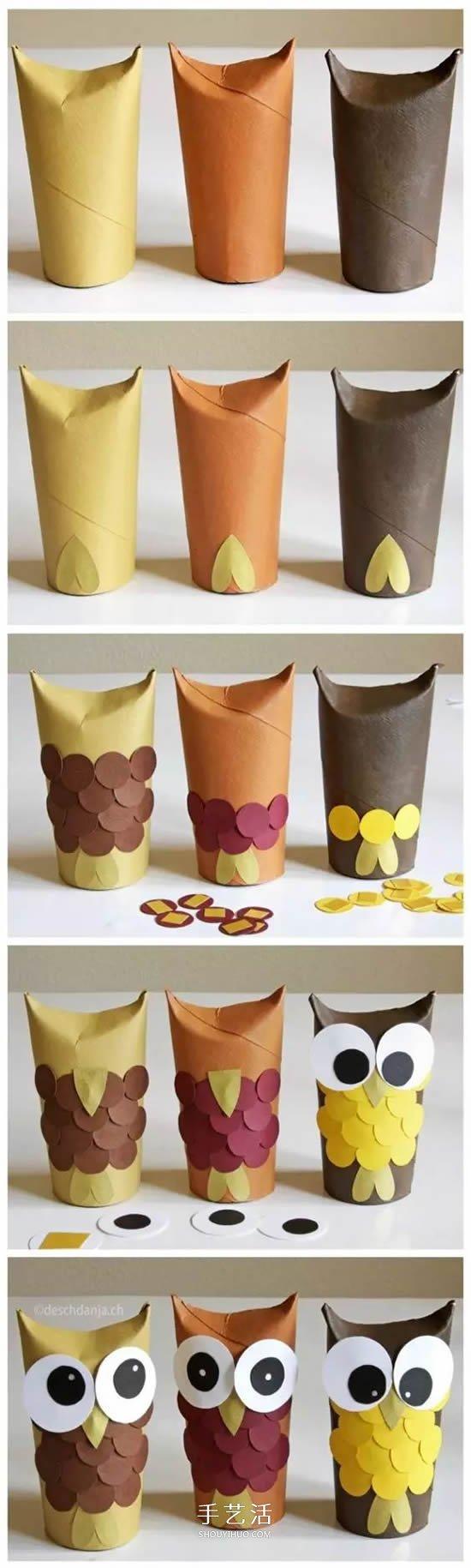 簡單幼兒環保小製作 衛生紙卷芯廢物利用大全