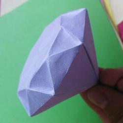 怎么折纸立体钻石图解 折一个超大的送女友吧