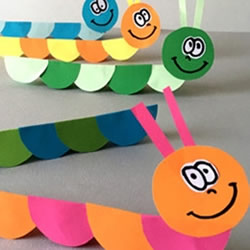 简单的幼儿卡纸手工制作 可爱纸毛毛虫的做法