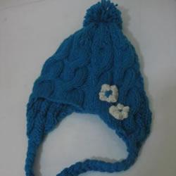 带辫子毛线帽子的编法 可爱俏皮帽子编织图解
