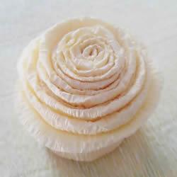 超像蛋糕的花朵!皱纹纸手工制作蛋糕花图解